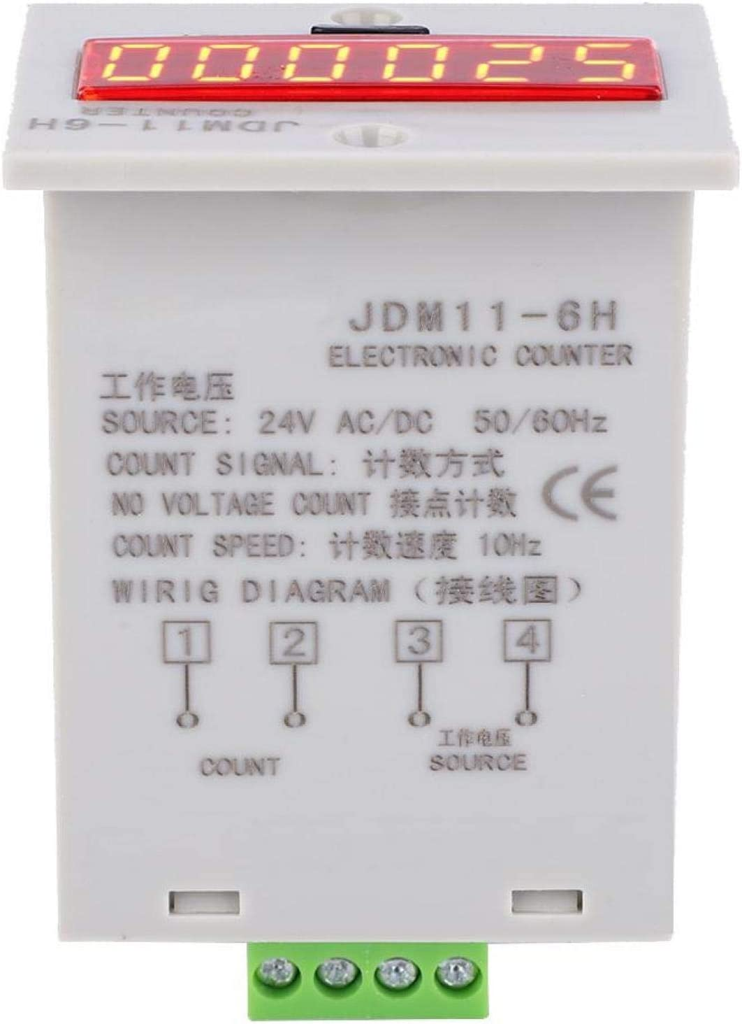 JDM11-6H No Voltage Counter 6 online shop Relay Popular brand in the world Digits Elect