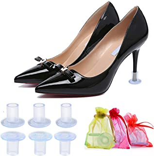 High Heel Protectors for Women's Shoes, Clear Heel Stoppers for Grass, Heel Repair Caps Covers - Perfect for Outdoor Weddi...