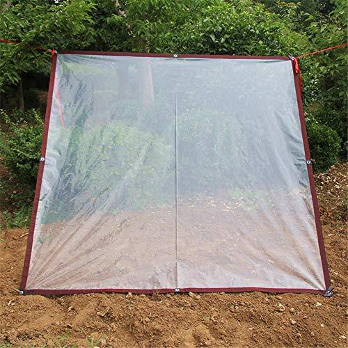 Lonas Impermeables Exterior Transparente, con ojales,Lona resistente a la intemperie y plegable para Casa, Jardín, Exteriores y Camping-2x6m / 6,6x19,8 pies