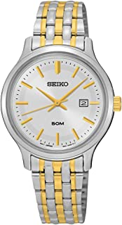 Seiko Watches Womens Neo Classic Two-Tone Stainless Steel Watch (Silver/Gold)
