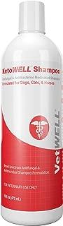 KetoWELL Ketoconazole & Chlorhexidine Shampoo Dogs & Cats - Antifungal, Antibacterial & Antiseptic Medicated Dog Shampoo Hot Spots, Ringworm, Yeast, Fungal Infections, Acne & Pyoderma