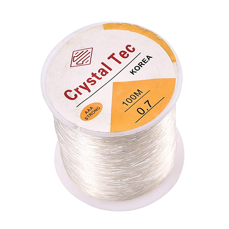 1 Roll 100M Elastic Bracelet String Cord Clear Stretch Bead Cord for Jewelry Making and Bracelet Making 0.7mm×100m White B cbhogcpe346117
