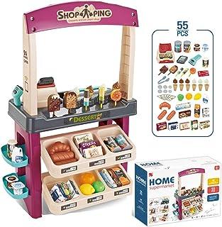子供用コスプレスーパーマーケットグッズセット、アイスクリームスーパーマーケットショッピングチェックアウトグッズセット、男の子と女の子のためのスーパーマーケットショッピンググッズゲームシミュレーションZDDAB
