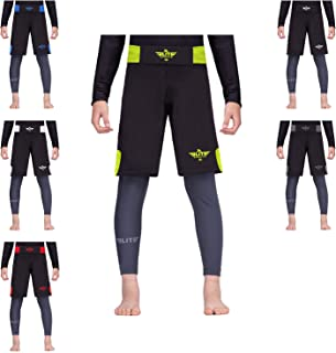 Elite Sports Jack Series Kids Training Shorts - UFC, MMA, BJJ, Muay Thai, WOD, No-Gi, Kickboxing, Boxing Shorts