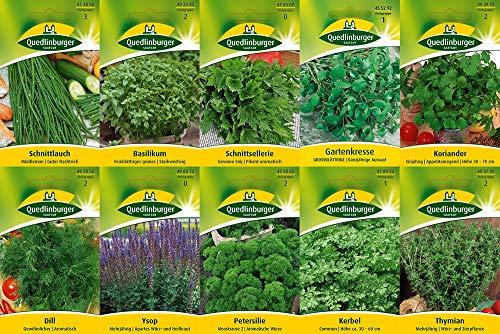 10 variétés   Assortiment de graines d'herbes   adapté aux débutants   maintenant prix spécial d'hiver