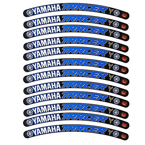 Yamaha Tracer Llanta Gráficos Negro Azul x 12?Pegatinas pegatinas