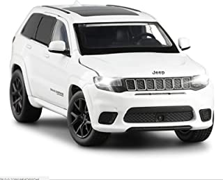 DXZJ Car Model 1: 32 Alloy Car for Jeep-SRT Grand Cherokee Classic Car Steering Shock Absorber Sound and Light Toy Car Boy Gifts (Color : White)