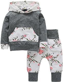 Hirolan Babykleidung Strampler Neugeborene Kleidung 3T-7T Baby Jungen Mädchen Kürbis T-Shirt Teufel Lange Hülse Tops  Hosen Stilvoll O-Ausschnitt Halloween Outfits Set