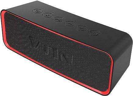 Vtin R2 Enceinte Bluetooth Portable, 24 Heures Enceinte Bluetooth avec Basses+ Riches, 14W Haut-Parleur, Etanche IPX6, Bluetooth 4.2, Mains Libres Téléphone, Micro Intégré Haut-Parleur sans Fil(Noir)