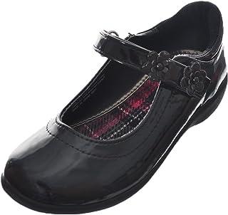 حذاء موحد للمدرسة للفتيات من French Toast مطبوع عليه Fallon Flat Mary Jane مقاس 3 أسود