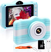 Kids Camera, EgoEra 3.5 inch Mini Kids Digital Camera Rechargeable HD Camcorder for Kids with 8MP 720P Screen & 16G Memory Card for 3-12 Year Old Kids Christmas Birthday Festival Toy Gift(Blue)