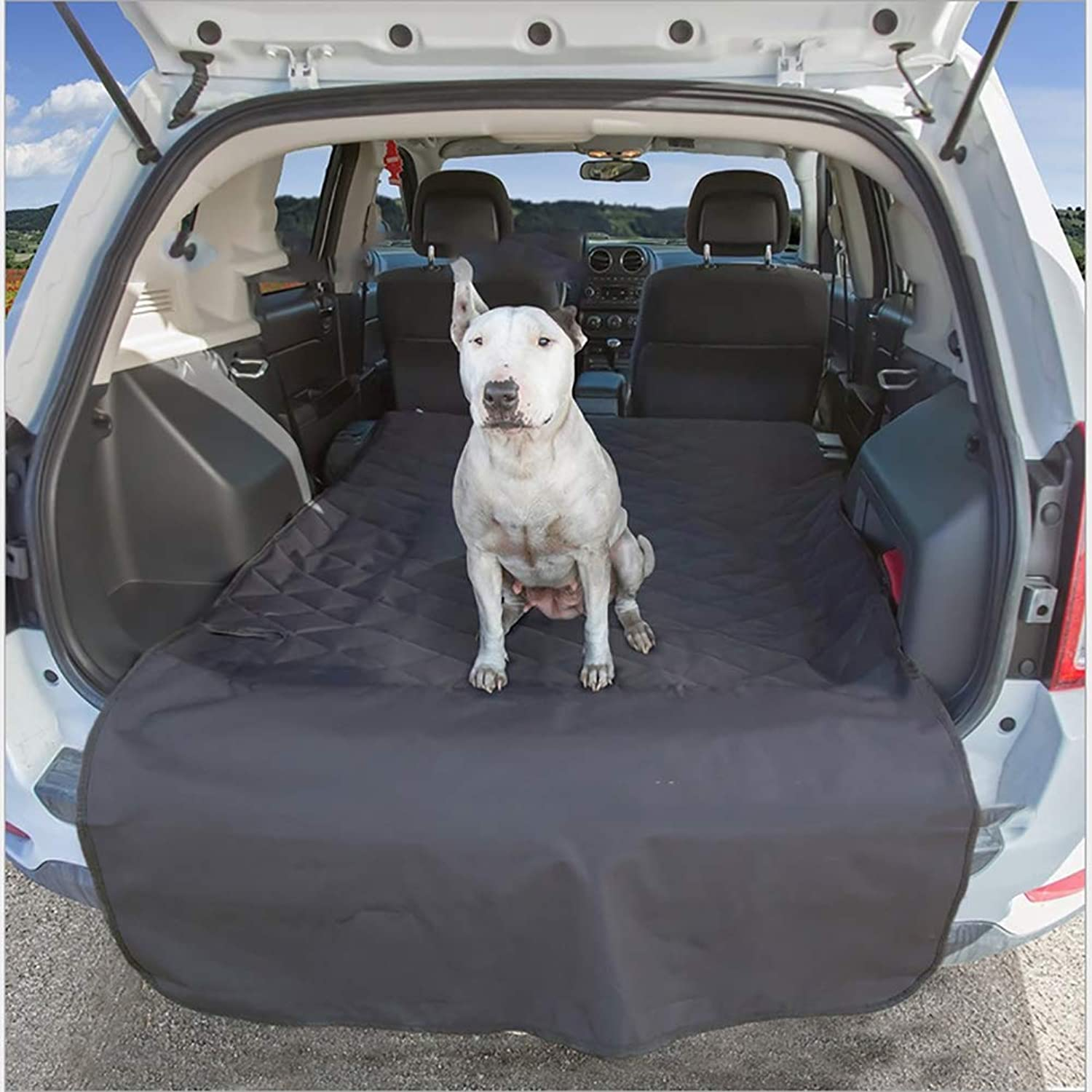 Dog Quilted Cargo CoverPet Hammock for Cars Trucks SUV Pet Products Wear Pad for Car Trunk Quilted Black