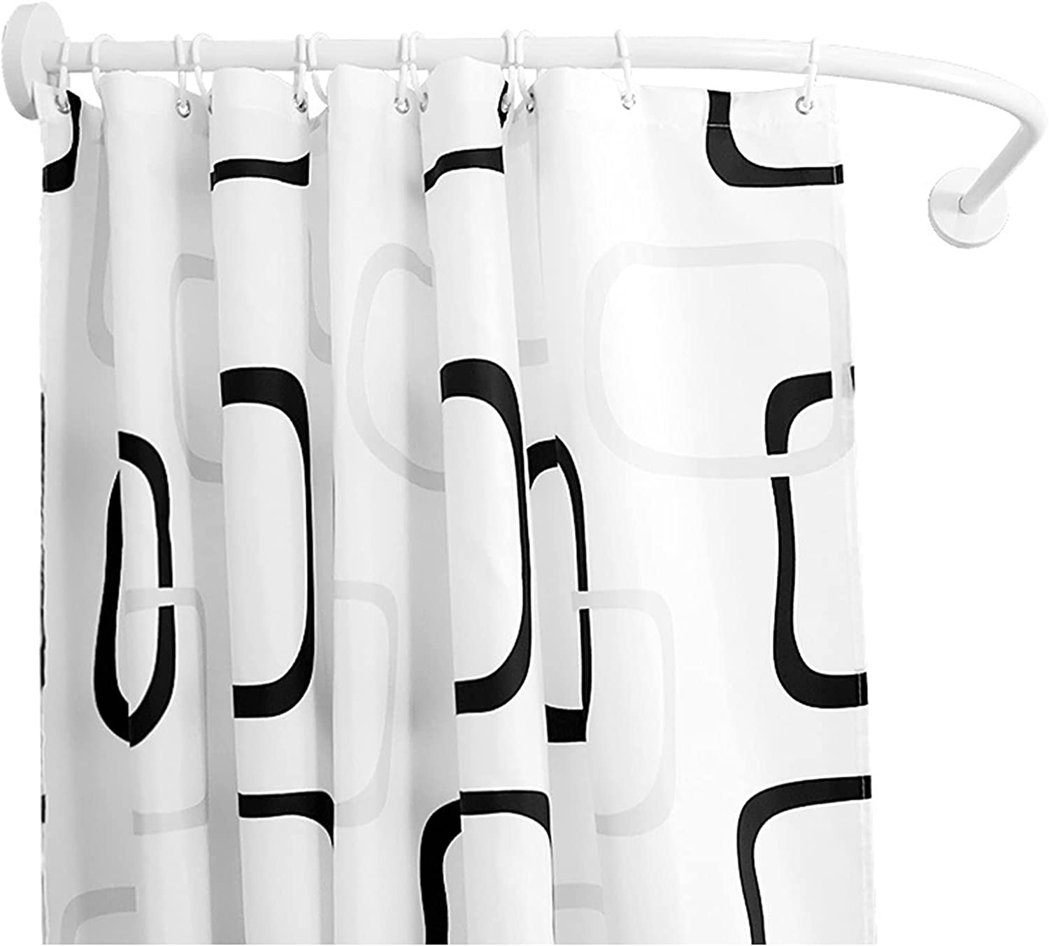 HBBY Max 81% OFF Selling and selling Curved Shower Rod Tension Mount Shape Adjustable L