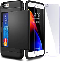 Sponsored Ad - iPhone 6 / 6s Case with Card Holder and[ Screen Protector Tempered Glass x2Pack] SUPBEC i Phone 6 / 6s Wall...
