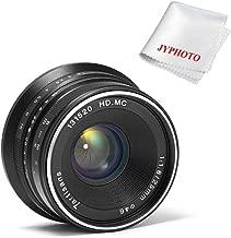 7artisans 25mm F1.8 Manual Focus Prime Fixed Lens for Sony E-Mount Cameras-APS-C (Black)