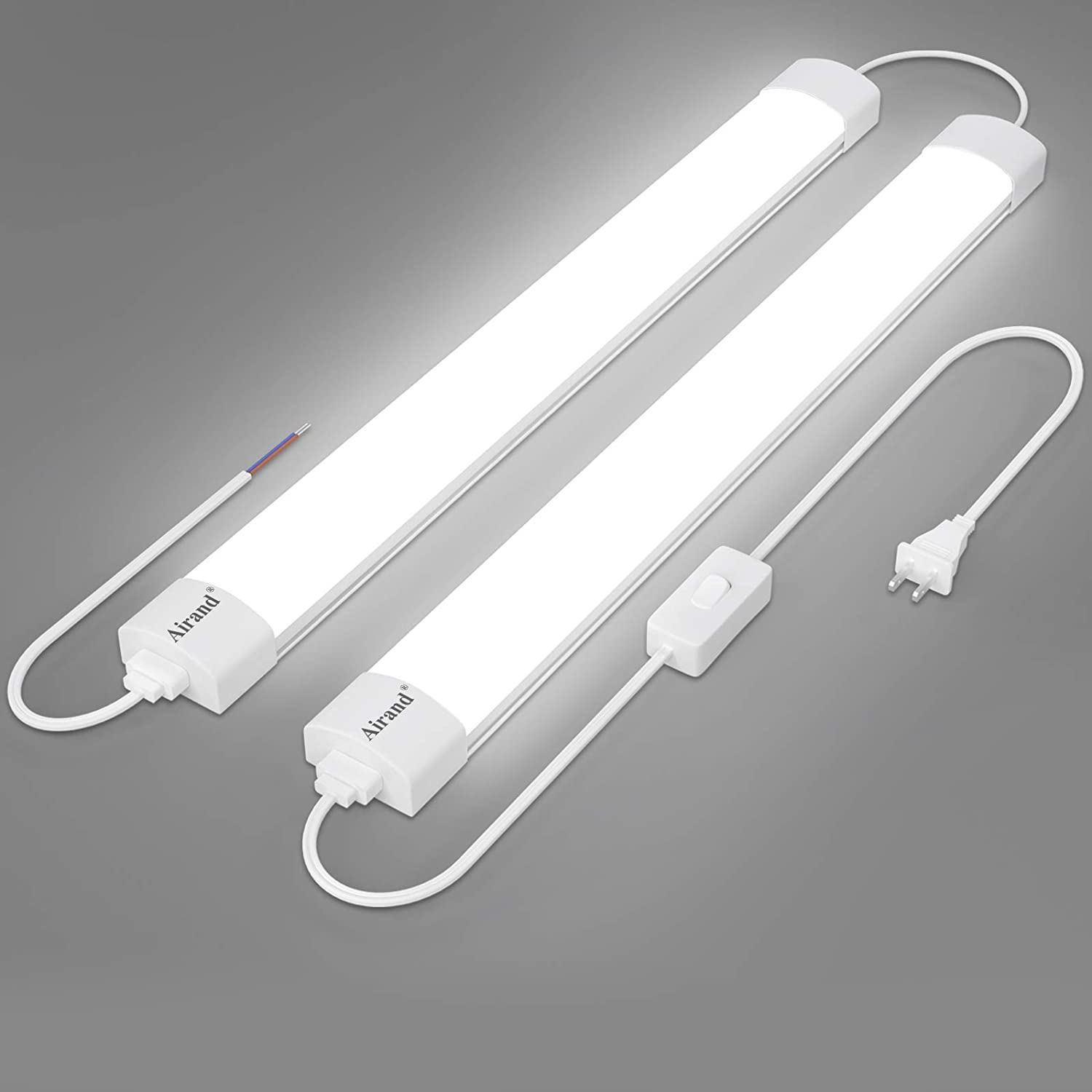 Utility LED Shop Light Fixture 2FT safety with OFFer 4FT Plug Linkable Airan