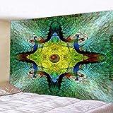 Bohemian Mandala Tapisserie Wandbehang Wanddekor Wandteppiche Überwurf Bettdecke Cotton Beach Yoga Mat- (59X79 Zoll) (150X200Cm)