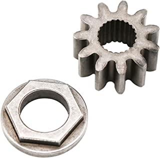 KIPA Steering Shaft Pinion Gear & Bushing for MTD 741-0656 941-0656A 717-1554 Toro 112-0863, Used on Riders Since 1999. 11 Tooth. Splined Bore