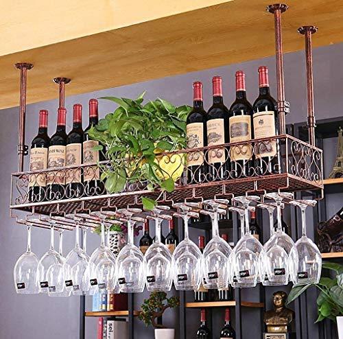 AERVEAL Estante de Vino Estantes de Vino Estante de Vino de Metal Soporte de Copa de Vino Tinto Colgante Soporte de Vidrio Colgante Al Revés/Barra Casera Creativa/Soporte de Vidrio Colgante de Es