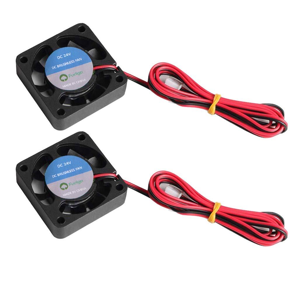 Furiga 4010 ventilador 24 V 40 x 40 x 10 mm 3D impresora extrusora refrigeración DC ventilador 1 M 2 unids