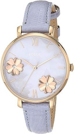 ES4814 Rose Gold Lavender Leather