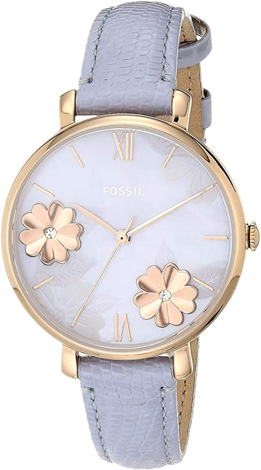 ES4814 Rose Gold Lavender Leather