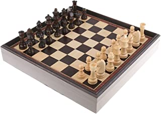 BAOBLADE 3 in 1 Wood Chess Set International Chess Chessboard Checkers for Tournament