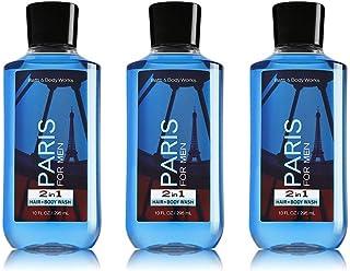 Bath & Body Works Paris For Men 2 in 1 Hair Body Wash 10 fl oz (3 pack)