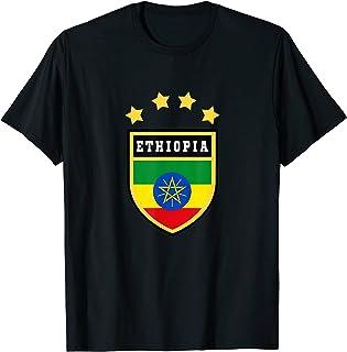 T-shirt Etiopia Stemma T-shirt Bandiera Addis Abeba Maglietta