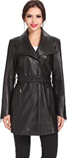Best lambskin leather trench coat Reviews