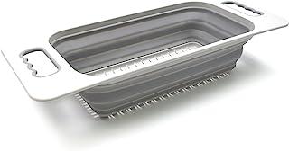 SAMMART Abtropfsieb für die Spüle, rechteckig, Grau