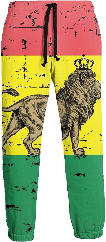 Mens Jogger Sweatpants Bolivia Lion Flag Lightweight Workout Athletic Joggers Pants Trousers
