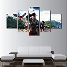 HNFSSK Canvas Painting The Witcher 3- Wild Hunt Geralt of Rivia Painting Sofa Background Hd Picture Canvas Painting for Home Decor-SIZE1