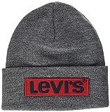Levi's Big Box Tab Beanie Gorro de Punto, Gris (R Grey 55), Talla única (Talla del Fabricante: UN)...