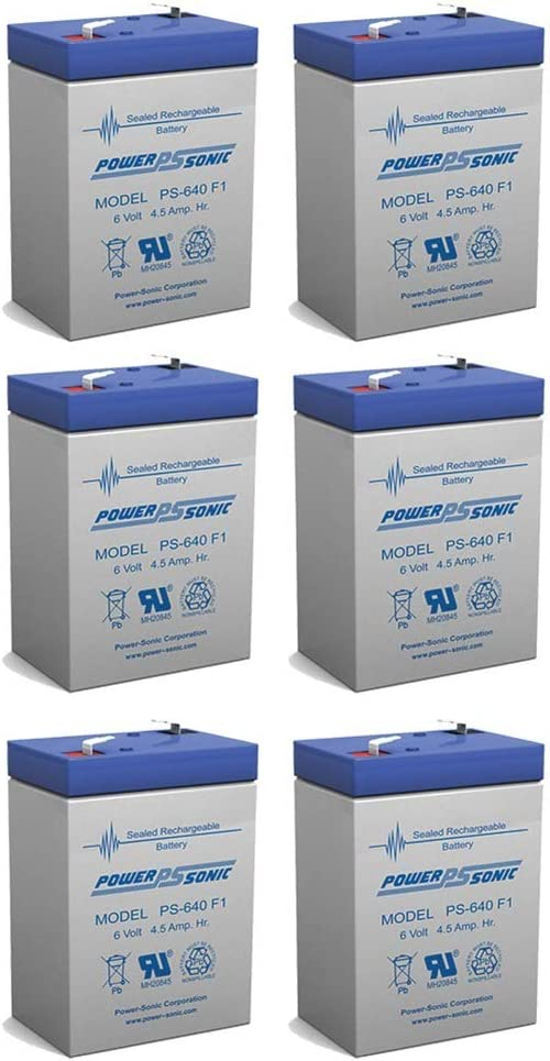 Power Max 79% OFF Sonic Fashion 6V 4.5AH SLA Replacement Battery NP6-4Ah 6 for NPP -