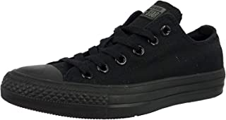 Converse Unisex Chuck Taylor All Star Low Top Black Monochrome Sneakers - 8.5 US Men/10.5 US Women