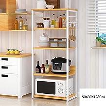 Kitchen Rack Floor Multilayer Kitchenette December Locker Shelf Household Microwave Oven Rack Cabinet Oven Storage Rack fo...