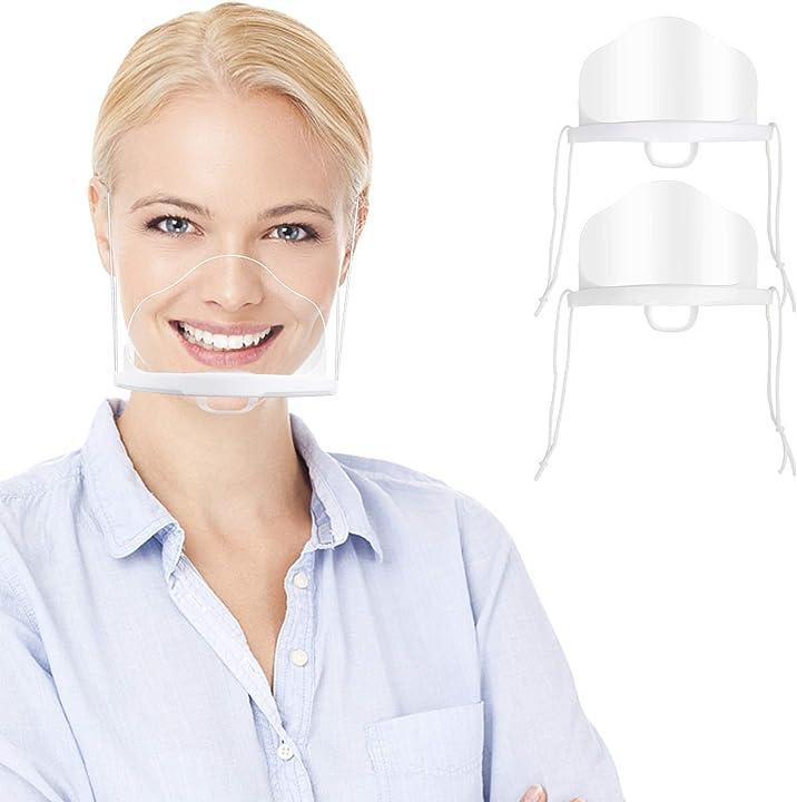 Visiera bocca paraschizzi trasparente coperchio protezione universale per il viso  innoocare 6 pezzi K0298-i-00