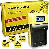 PATONA LCD Cargador para DMW-BLG10, DMW-BLG10E, CS-BLG10MC Bateria compatible con Panasonic Lumix DMC-GF6 DMC-GX7 DMC-LX100