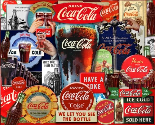Springbok Puzzles - Coca-Cola Decades Of Tradition - 2000 Piece Jigsaw Puzzle - Large 34 Inches by 42.5 Inches Puzzle - Made in USA - Unique Cut Interlocking Pieces - Officially Licensed Coca Cola Puzzle