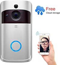 Video Doorbell 2,Pro Doorbell Camera HD WiFi Doorbell Wireless Front Door Camera with Doorbell Chime Battery Power Operated with Motion Detector Audio&Speaker for iOS&Android Phone
