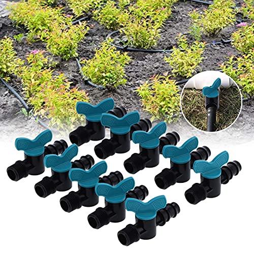 Vcriczk Válvula de lengüeta para Manguera de riego, Piezas de riego por Goteo, válvula de Interruptor de riego, conexión de Rosca Macho de 1/2 pulg. para Tubo de riego