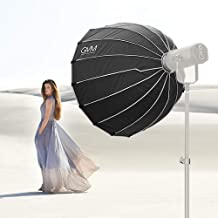 GVM 36 Inches / 90cm Parabolic Softbox with Bowens Mount, Studio Lighting Reflector and Diffuser Cloth, Hexadecagon Design Light Dome for Studio Lighting Flash Monolight