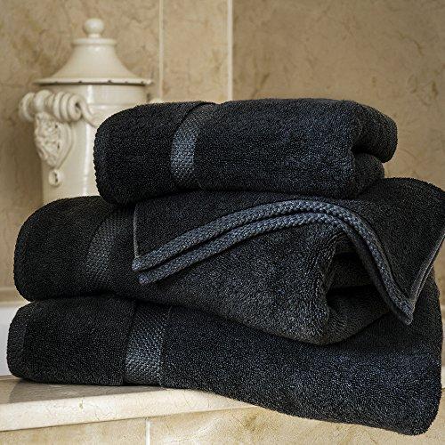 Biancheria da Bagno in Bambù - 1 x Asciugamano Da Bagno di Lusso - 800gsm - Grigio Carbone - 130cm x 70cm