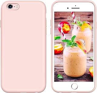 GUAGUA iPhone 6s Plus Case iPhone 6 Plus Case Liquid Silicone, Soft Gel Rubber Slim Lightweight Microfiber Lining Cushion Texture Shockproof Protective Phone Cases for iPhone 6 Plus/6s Plus Pink