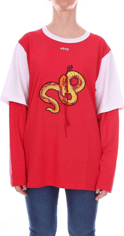 Akep Women's KE735RED Red Cotton Sweatshirt