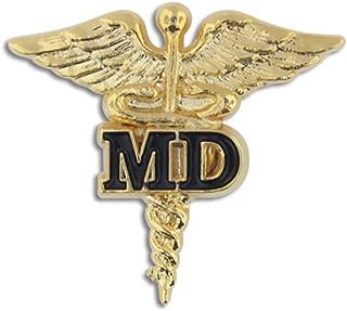 Medical Doctor MD Gold Caduceus Pin