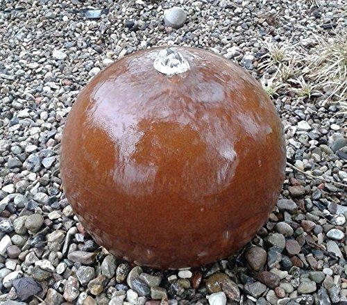garten-wohnambiente Kugelbrunnen 50 cm Cortenstahl Roststahl Kugel Wasserspiel