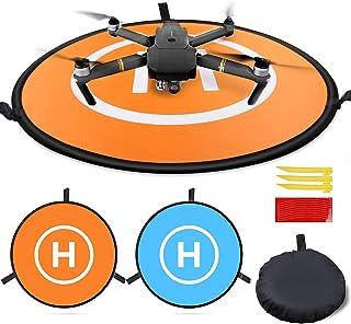 MMOBIEL Universele Drone Landing Pad Waterdichte Helipad 55 cm / 21.6 inch Dubbelzijdig Oranje / Blauw voor RC Drones Heli...