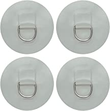 AUXPhome 4 X Stainless Steel D-Ring Pad/Patch for PVC Inflatable Boat Raft Dinghy Kayak - No Glue - Light Grey